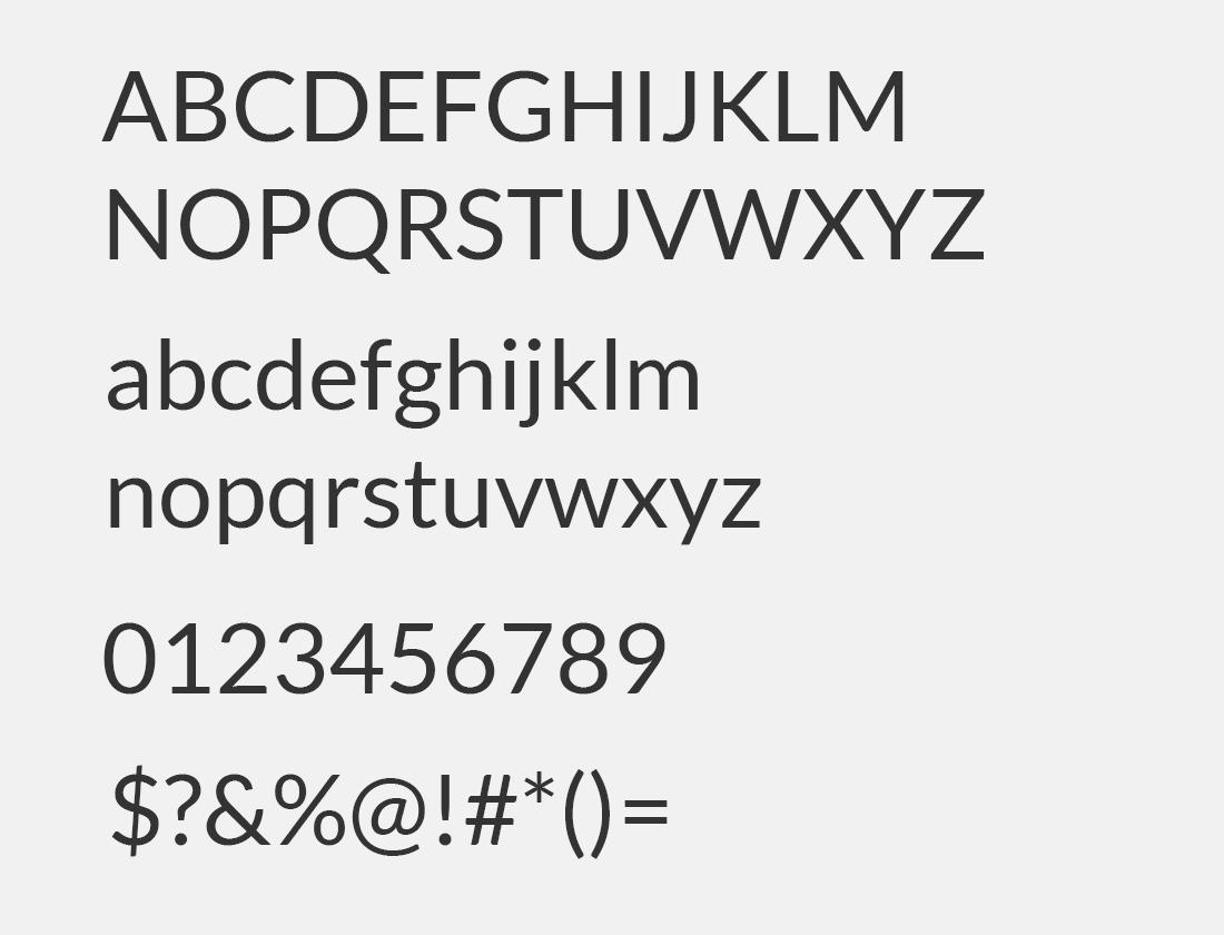 3 Lato font