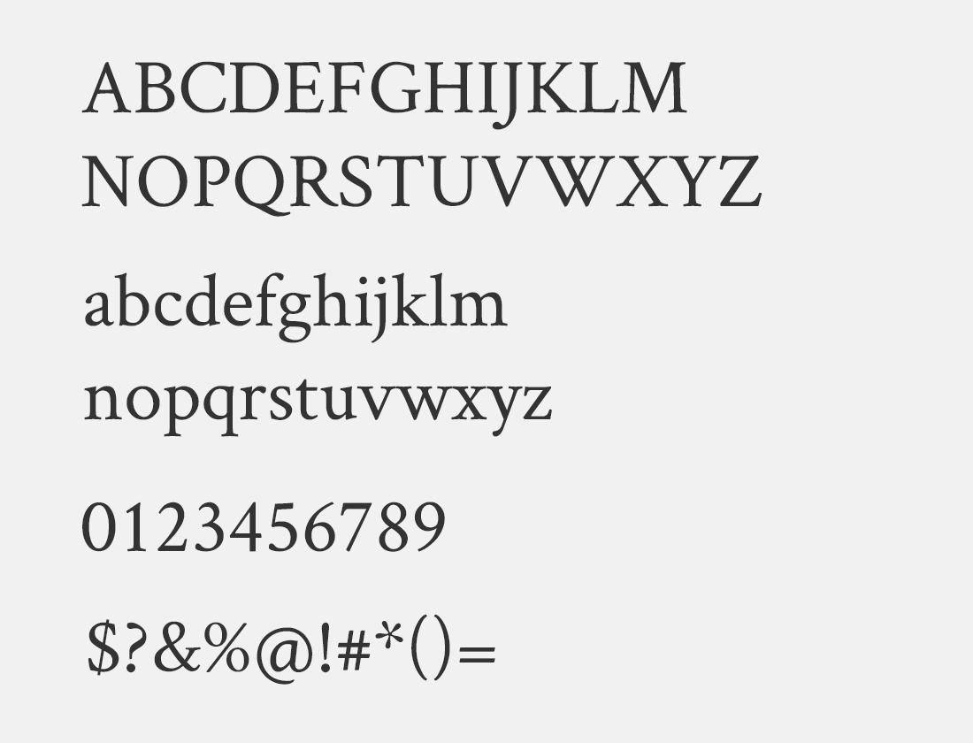 43 Crimson Text font