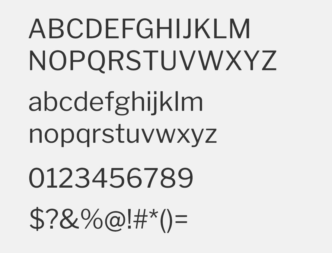 44 Libre Franklin font
