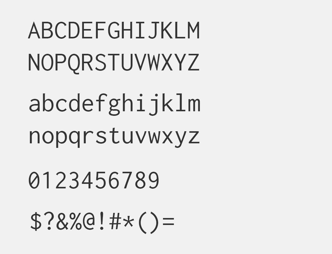 45 Inconsolata font