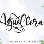 Aguellera Calligraphy Font