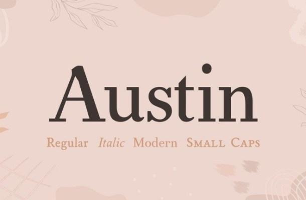 Austin Serif Font Family