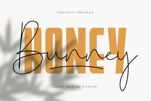 Honey Bunney Font Duo