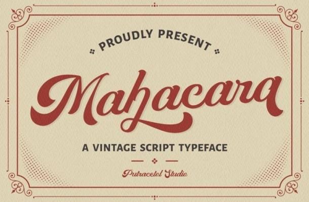 Mahacara Vintage Script Font-1