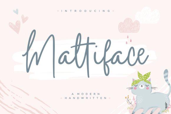 Mattiface Handwritten Font