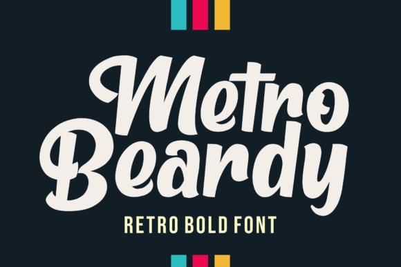 Metro Beardy Retro Script Font