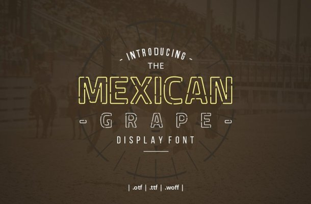 Mexican Grape Display Font