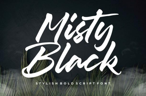 Misty Black Stylish Bold Script Font