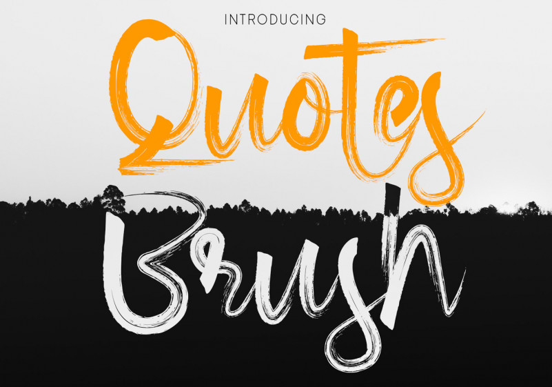 Quotes Brush Font-2