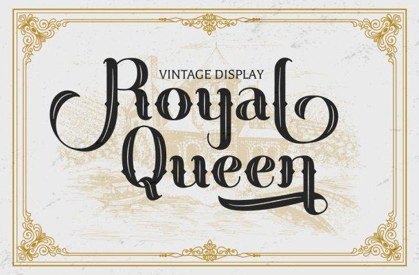 Royal Queen Vintage Display Font-1