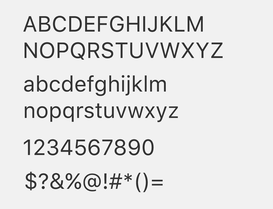 Sanfrancisco text font