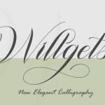 Willgets Elegant Calligraphy Font