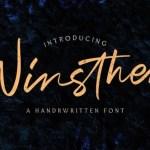 Winsthen Handwritten Font