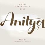 Anitya Bold Handwritten Font