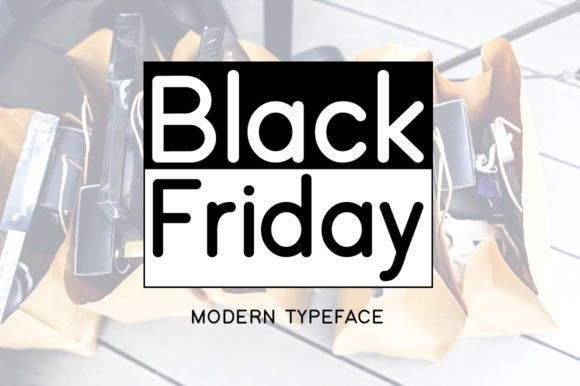Black Friday Modern Typeface