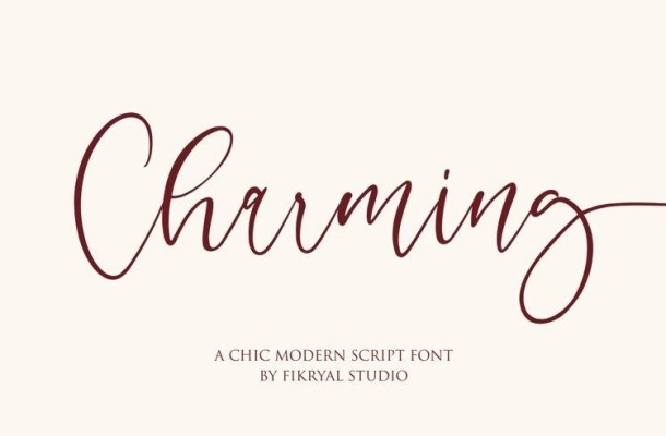 Charming Calligraphy Font