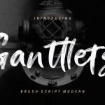 Ganttlets Brush Font