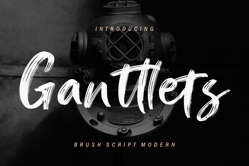 ganttlets-brush-font