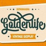 Goldenlife Vintage Display Font