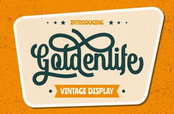 Goldenlife Vintage Display Font