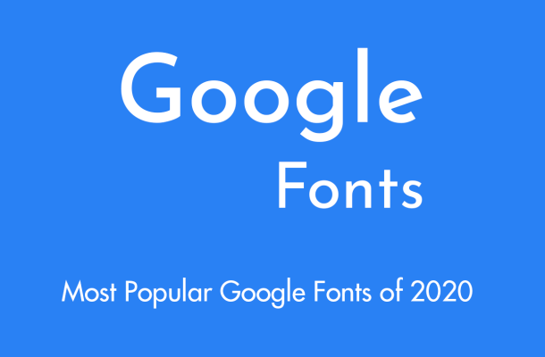 google fonts of 2020
