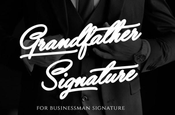 Grandfather Signature Font