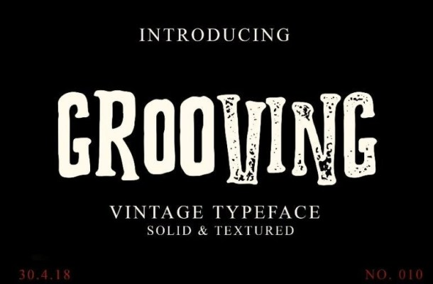 Grooving Display Font