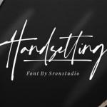 Handsetting Modern Signature Font