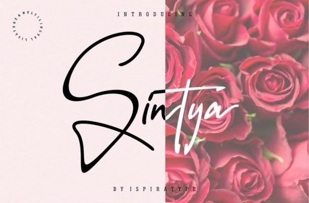 Sintya Signature Font