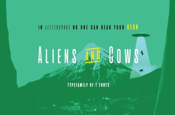 Aliens And Cows Sans Font