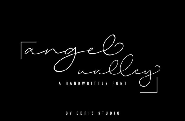 Angel Valley Handwritten Signature Font