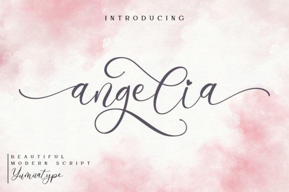 Angelia Calligraphy Font