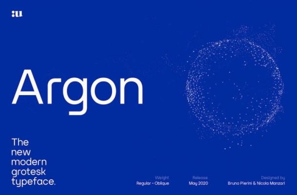 Argon Sans Serif Font