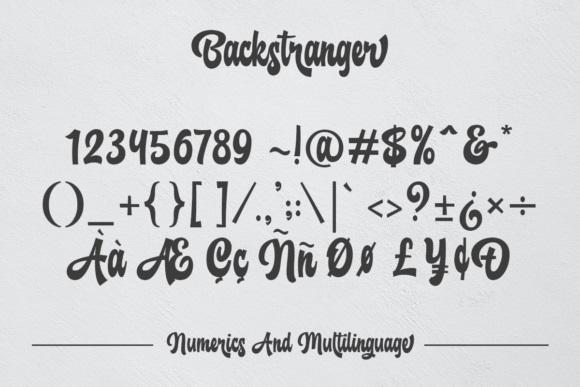 Backstranger Bold Script Font-4