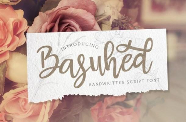 Basuhed Calligraphy Script Font