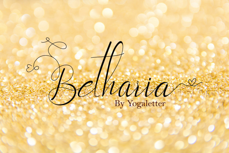 Betharia Calligraphy Font-1
