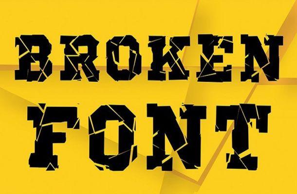 Broken Destroy Display Font