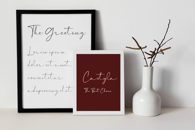 Castyla Modern Signature Font-3
