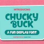 Chucky Buck Fun Display Font