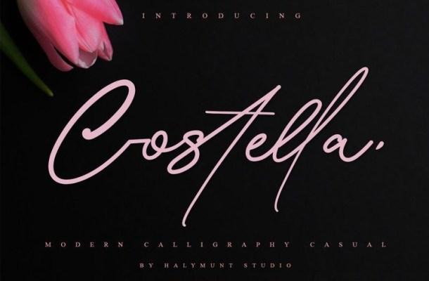 Costtella Handwritten Script Font-1