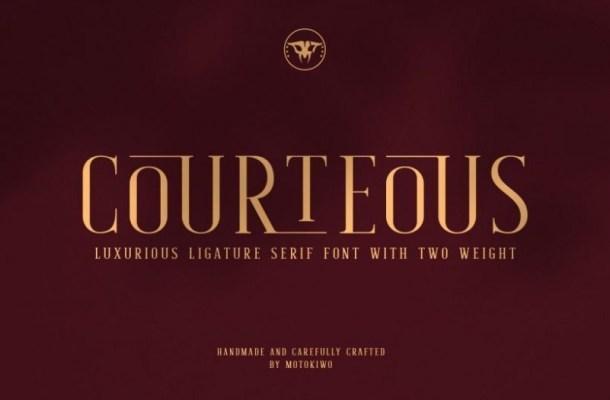 Courteous Serif Font-1