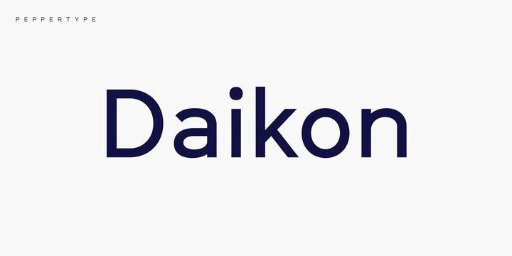 Daikon Sans Serif Font-1