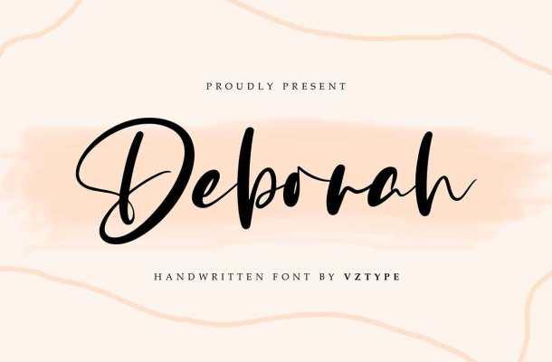 Deborah Handwritten Script Font