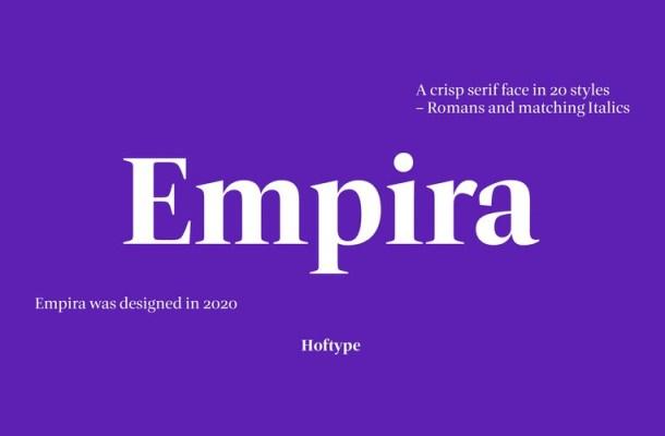 Empira Serif Font