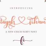 Fatayah Irhami Calligraphy Script Font