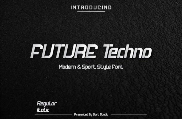 Future Techno Display Font