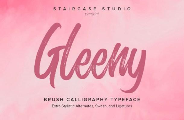 Glenny Brush Font