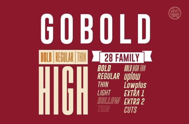 Gobold Sans Serif Font Family