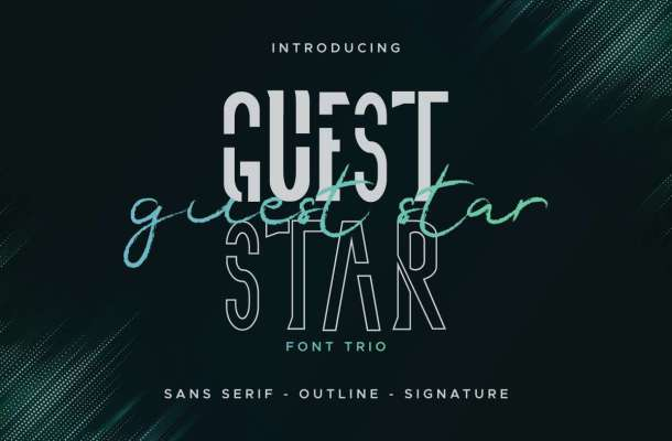 Guest Star Font Duo