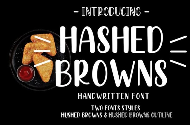 Hashed Browns Script Font